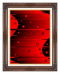 Lora Ashley Balance Red And Black canvas with dark regal wood frame