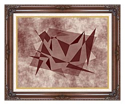 Lora Ashley Fragments Unite Brown And Tan canvas with dark regal wood frame