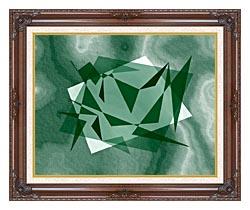 Lora Ashley Fragments Unite Green canvas with dark regal wood frame