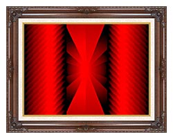 Lora Ashley Warm Welcome canvas with dark regal wood frame
