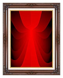 Lora Ashley Cranberry Slide canvas with dark regal wood frame