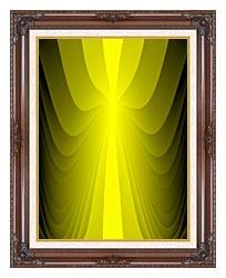 Lora Ashley Lemon Slide canvas with dark regal wood frame