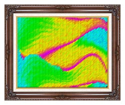 Lora Ashley Frolic canvas with dark regal wood frame
