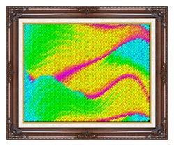 Lora Ashley Frolic canvas with dark regal wood frame