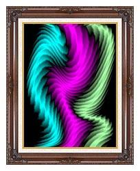 Lora Ashley Dancing Rays canvas with dark regal wood frame