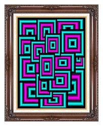 Lora Ashley Data Overload canvas with dark regal wood frame