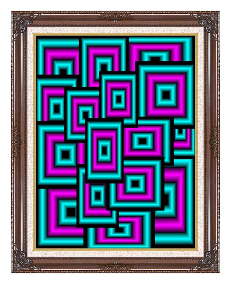 Lora Ashley Data Overload with Dark Regal Frame w/Liner