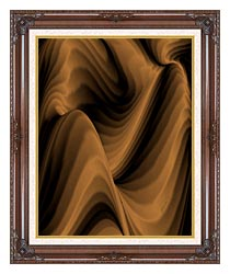 Lora Ashley Chocolate River canvas with dark regal wood frame