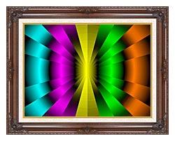 Lora Ashley Balanced Motion canvas with dark regal wood frame