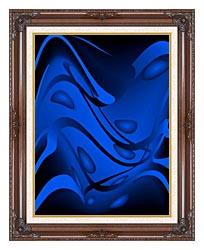 Lora Ashley Tropical Water canvas with dark regal wood frame