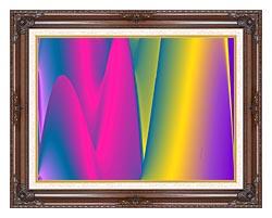 Lora Ashley Rainbow World canvas with dark regal wood frame