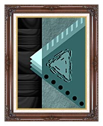 Lora Ashley Plate Tectonics canvas with dark regal wood frame