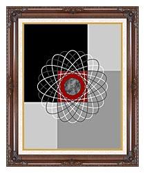 Lora Ashley Nucleus canvas with dark regal wood frame