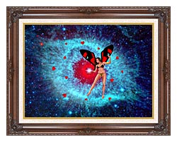 Lora Ashley Fairy Of Hearts canvas with dark regal wood frame