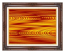 Lora Ashley Red And Yellow Slide canvas with dark regal wood frame