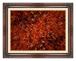 Lora Ashley Autumn Abstract Tapestry canvas with dark regal wood frame