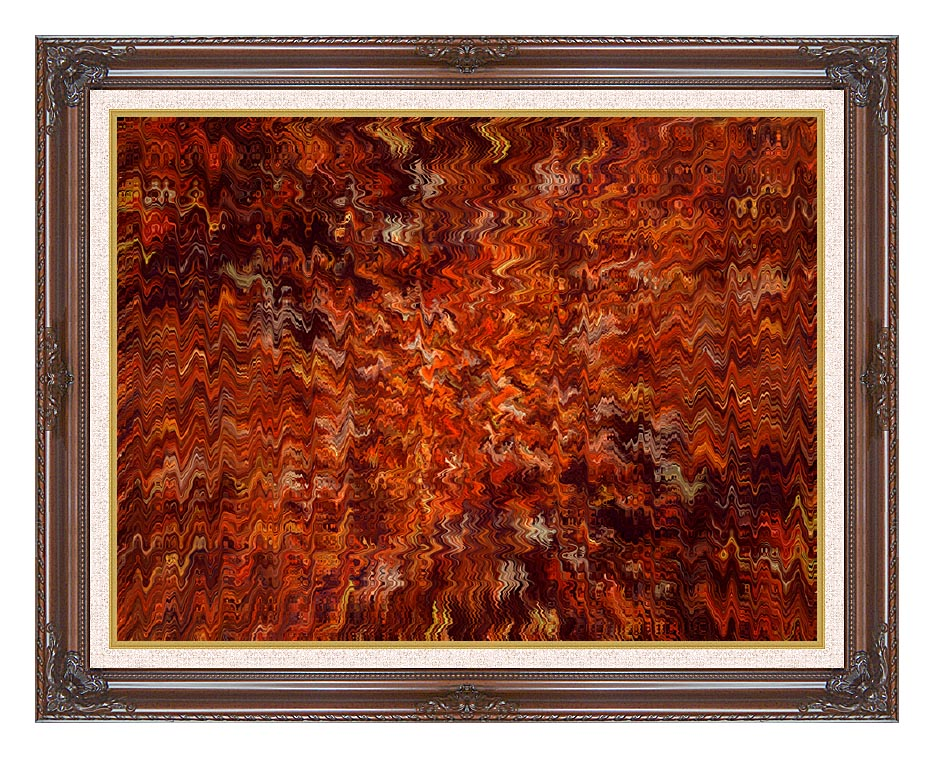 Lora Ashley Autumn Abstract Tapestry with Dark Regal Frame w/Liner