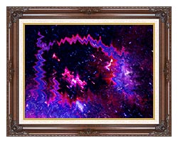 Lora Ashley Thinking Of Your Touch canvas with dark regal wood frame