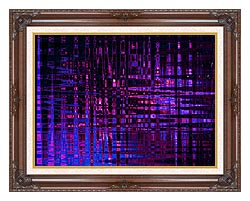 Lora Ashley Pink And Blue Light Show canvas with dark regal wood frame