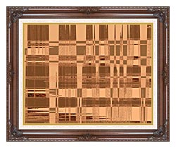 Lora Ashley Contemporary Tan Tapestry canvas with dark regal wood frame