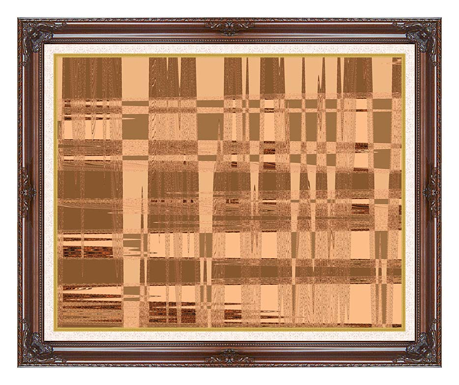 Lora Ashley Contemporary Tan Tapestry with Dark Regal Frame w/Liner