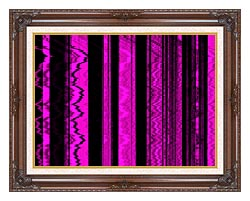 Lora Ashley Contemporary Magenta Abstract canvas with dark regal wood frame