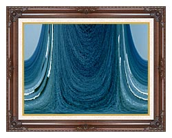 Lora Ashley Contemporary Water World canvas with dark regal wood frame