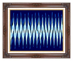Lora Ashley High Voltage Abstract canvas with dark regal wood frame