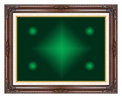 Lora Ashley Green Contemporary canvas with dark regal wood frame