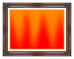 Lora Ashley Red And Orange Contemporary canvas with dark regal wood frame