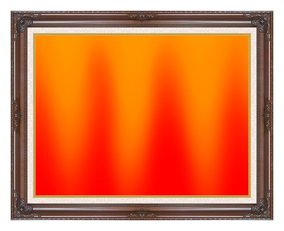 Lora Ashley Red and Orange Contemporary with Dark Regal Frame w/Liner