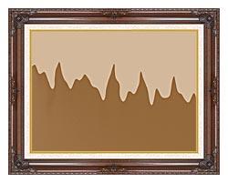 Lora Ashley Modern Chocolate canvas with dark regal wood frame