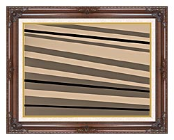 Lora Ashley Contemporary Black And Tan canvas with dark regal wood frame