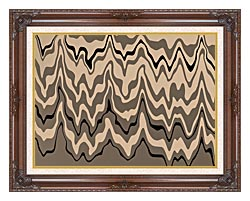 Lora Ashley Modern Black And Tan canvas with dark regal wood frame