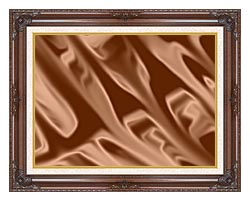 Lora Ashley Chocolate canvas with dark regal wood frame