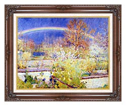 William Blair Bruce The Rainbow canvas with dark regal wood frame