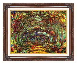 Claude Monet The Path With Rose Trellises Giverny canvas with dark regal wood frame