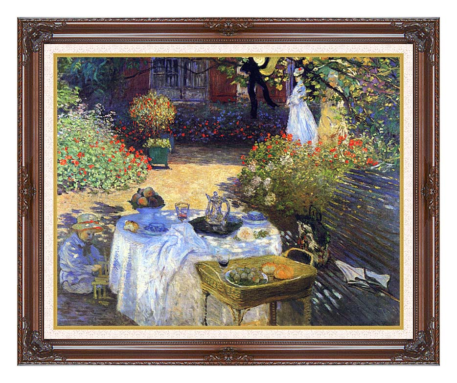 Claude Monet Le Dejeuner with Dark Regal Frame w/Liner