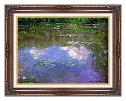 Claude Monet The Cloud canvas with dark regal wood frame