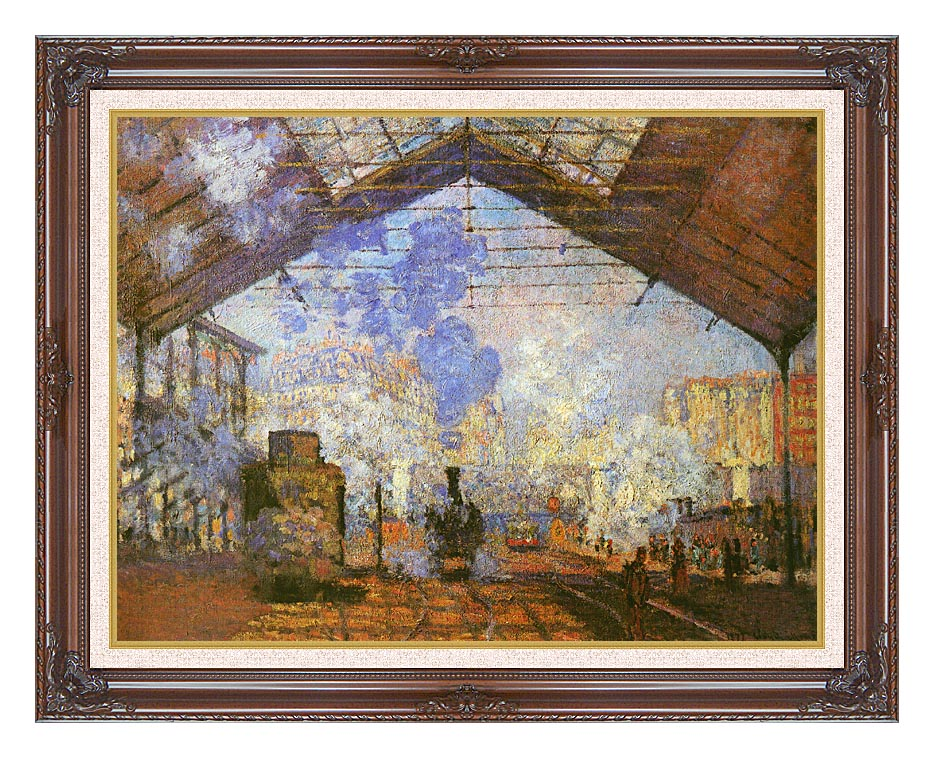 Claude Monet La gare Saint Lazare with Dark Regal Frame w/Liner