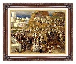 Pierre Auguste Renoir The Mosque Algiers canvas with dark regal wood frame