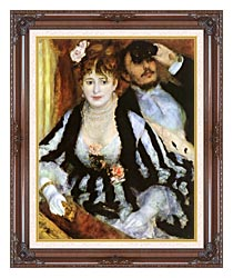 Pierre Auguste Renoir La Loge canvas with dark regal wood frame