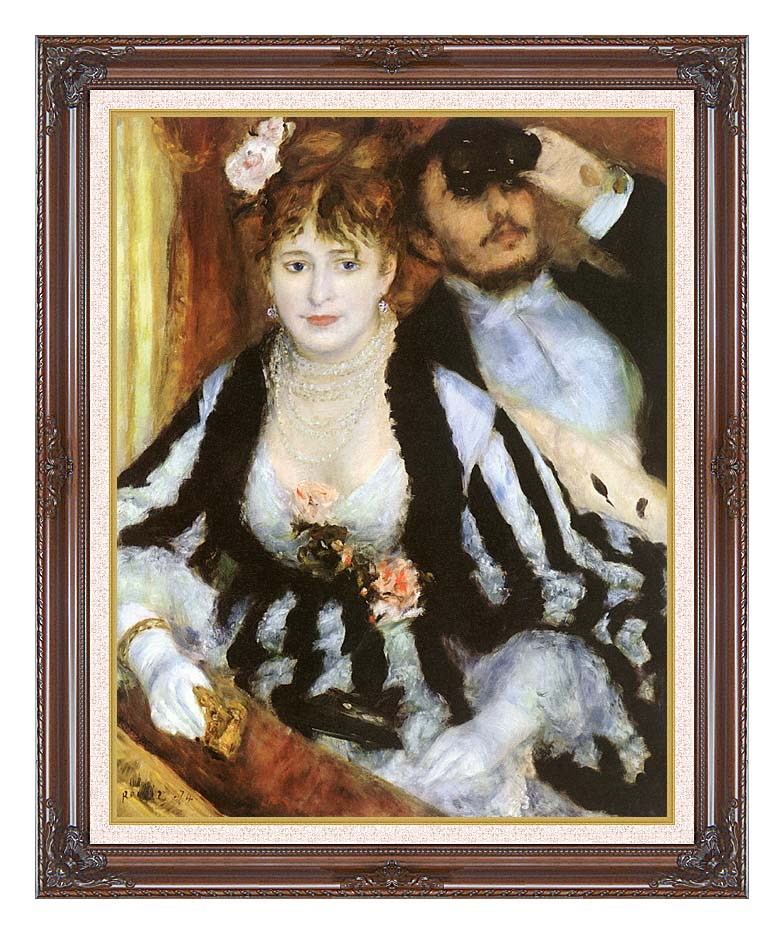 Pierre Auguste Renoir La Loge with Dark Regal Frame w/Liner