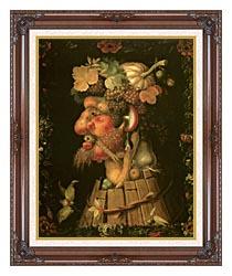 Giuseppe Arcimboldo Autumn canvas with dark regal wood frame