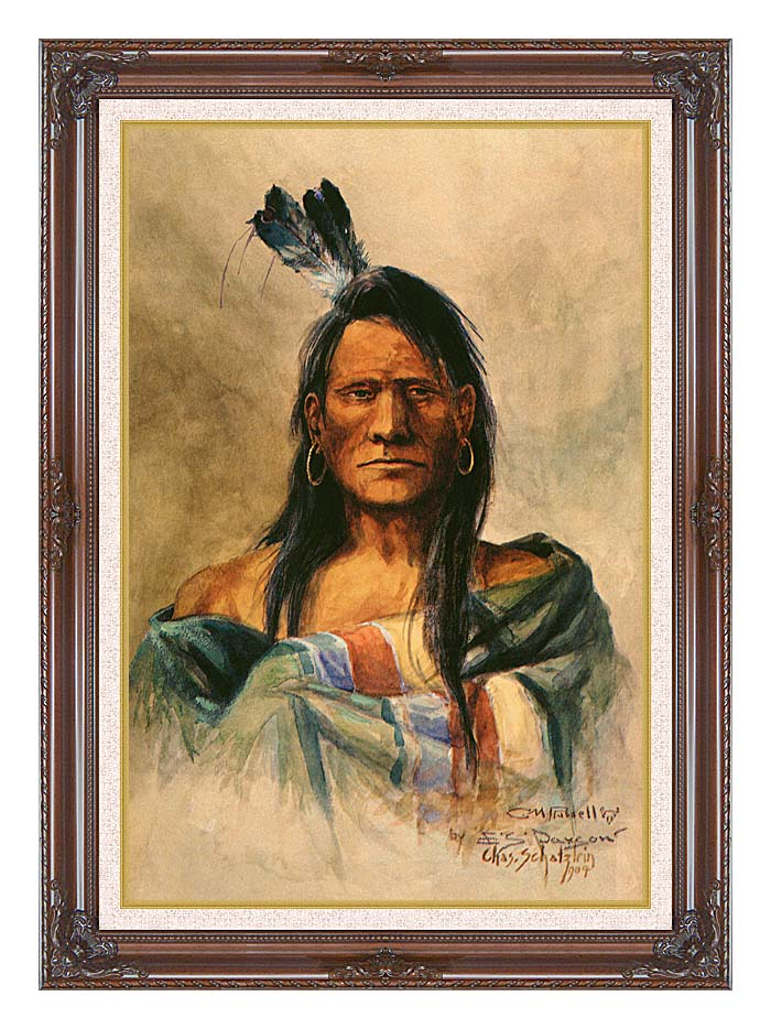 Charles Russell Indian Head with Dark Regal Frame w/Liner