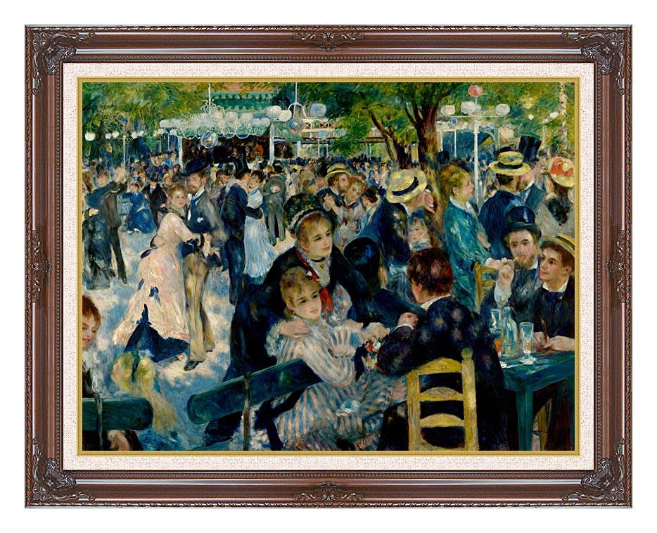 Pierre Auguste Renoir At the Moulin de la Galette with Dark Regal Frame w/Liner