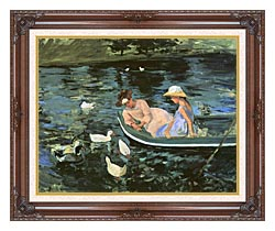 Mary Cassatt Summertime canvas with dark regal wood frame