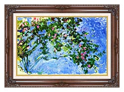 Claude Monet The Roses canvas with dark regal wood frame