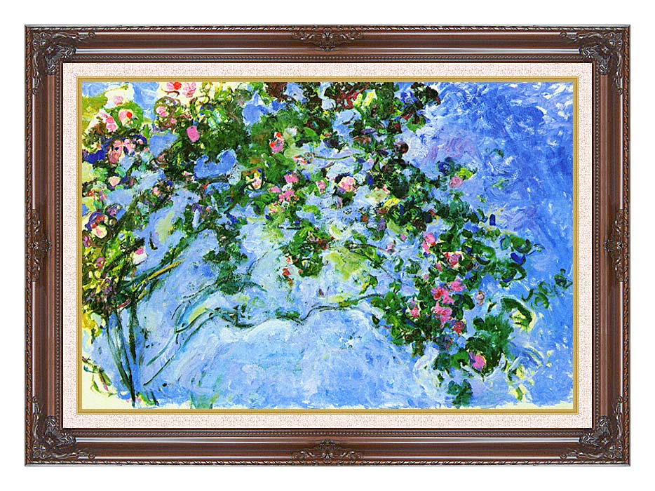 Claude Monet The Roses with Dark Regal Frame w/Liner