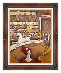 Georges Seurat The Circus canvas with dark regal wood frame